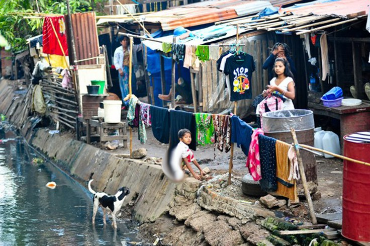 Neighbourhood in Yangon, Burma --- Burma (also called Myanmar) is considered one the most economically mismanaged countries on earth.