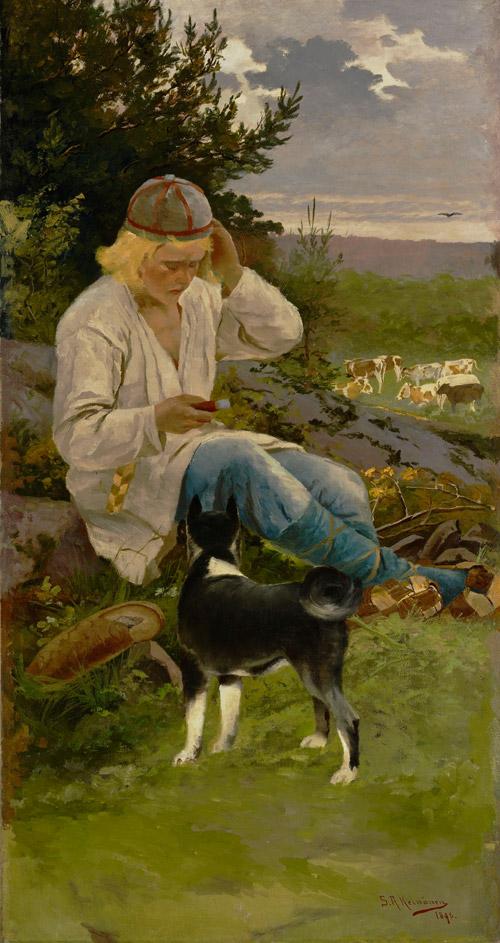 """""""Kullervo paimenessa"""" (1896) by Sigfrid August Keinänen"""