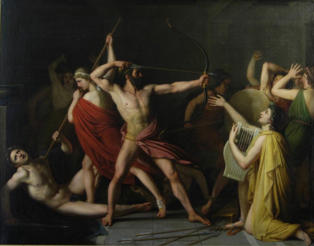 Ulysse et Télémaque massacrent les prétendants de Pénélope. (1812) Thomas Degeorge