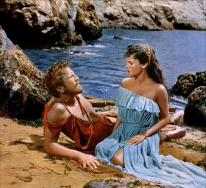 Kirk Douglas and Rossana Podestà 	in Ulysses (1954)